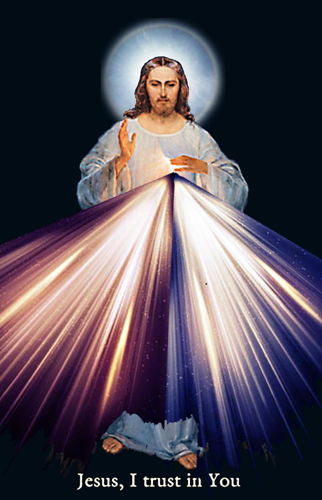 Divine Mercy  Vilnius image - Digitally enhanced