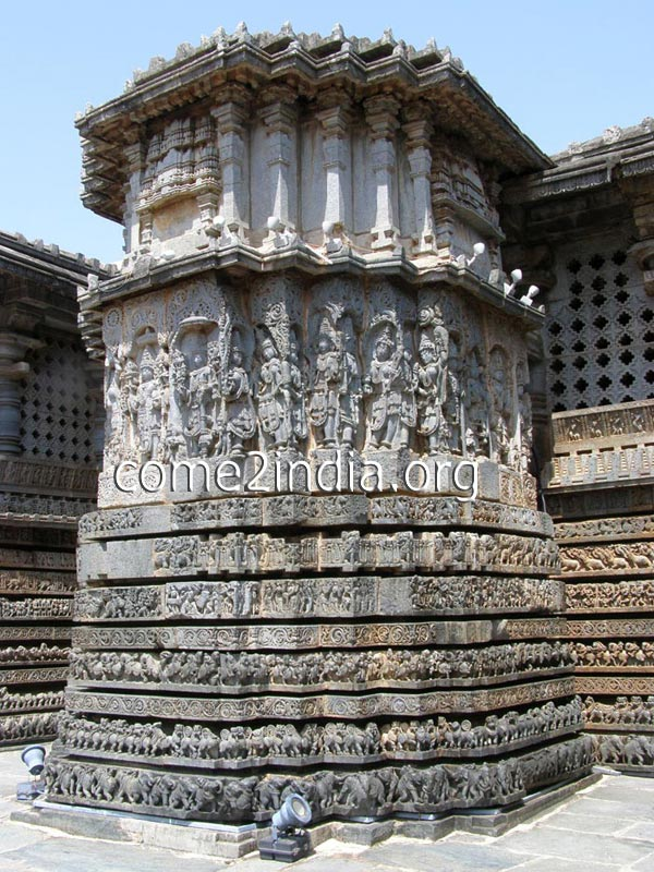 A section of Hoysala Temple - Chennakeshava temple in Belur