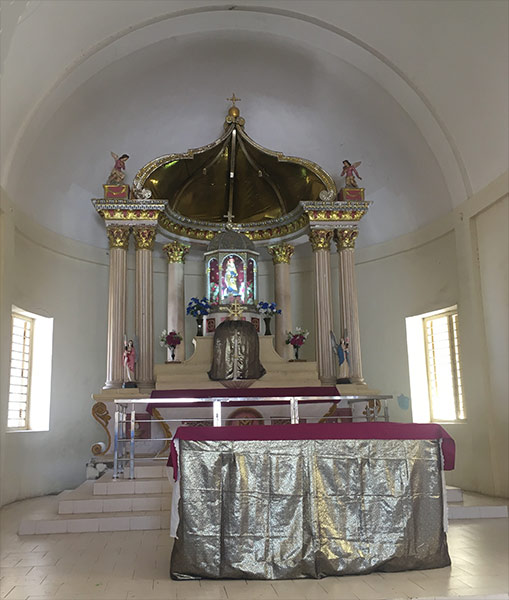 Our Lady of Mount Carmel altar