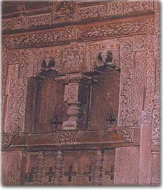 Sample of an intricately carved portion inside the Hadimba temple