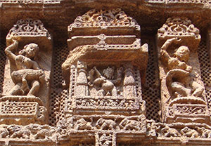 Sculptures in Konark Sun Temple