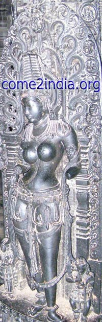 exceptionally detailed figure of Mohini - Poetry in Stone