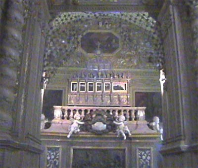 sacred relic of the body of  St.Francis Xavier in a silver casket