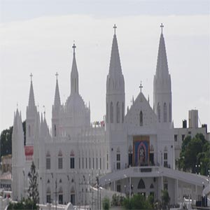Shrine of Our Lady of Velankanni during the day