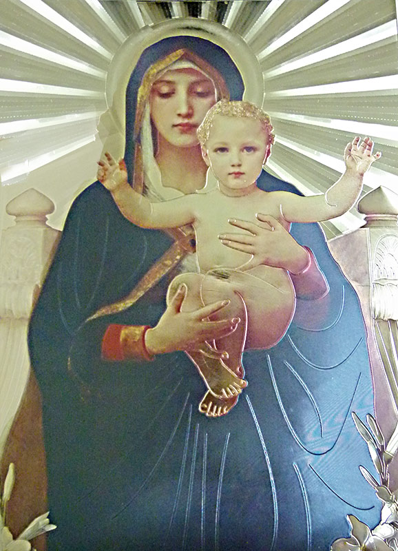 New Mother Mary with Infant Jesus